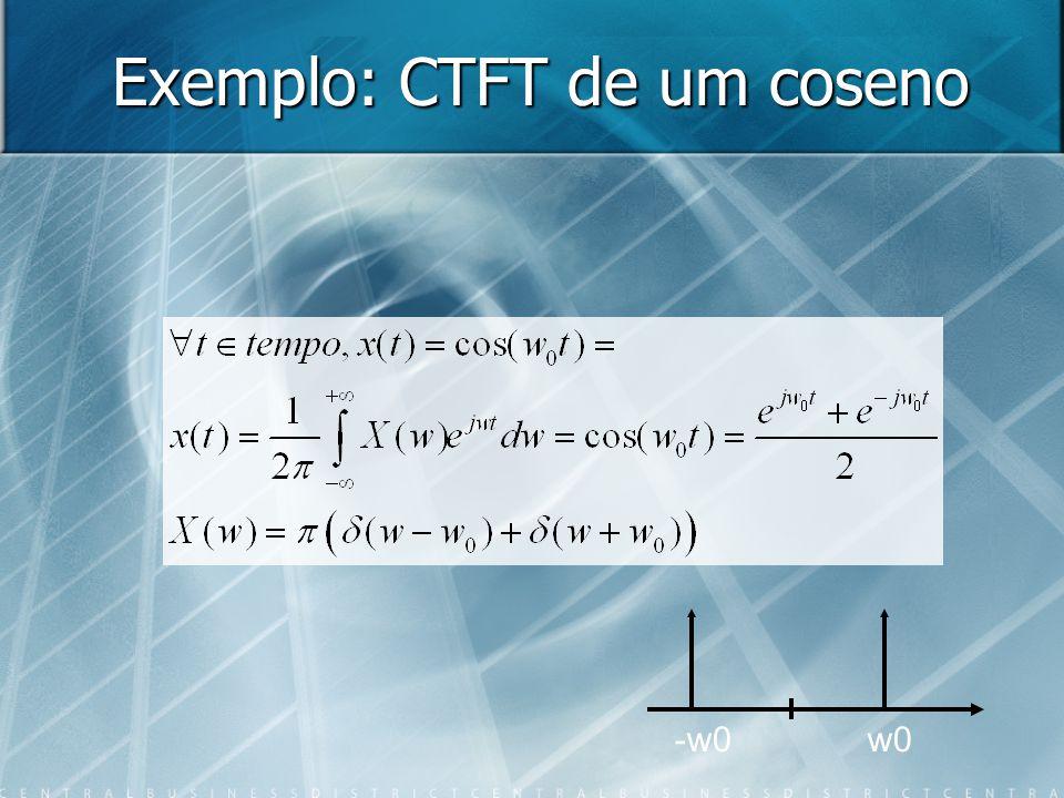 Exemplo: CTFT de um coseno