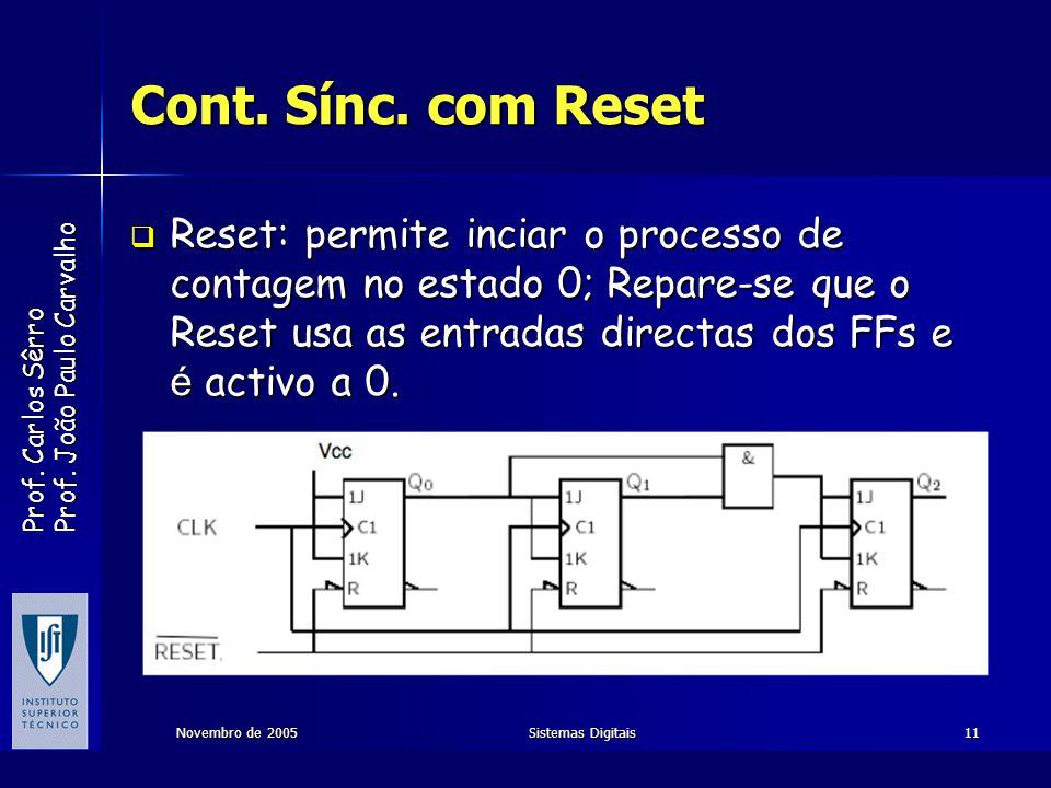Cont. Sínc. com Reset
