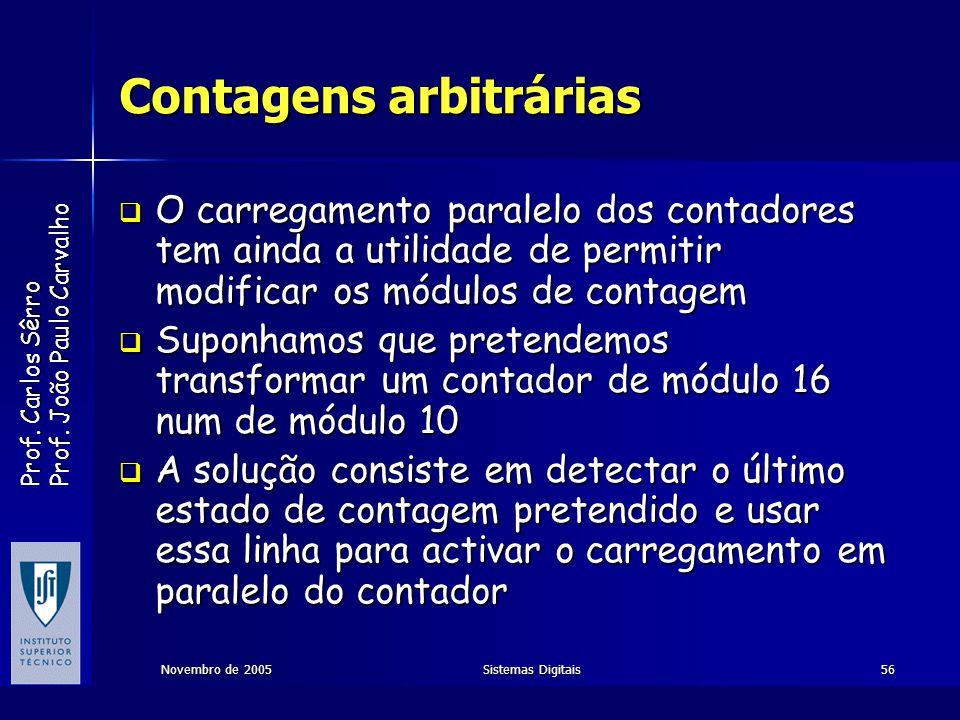 Contagens arbitrárias