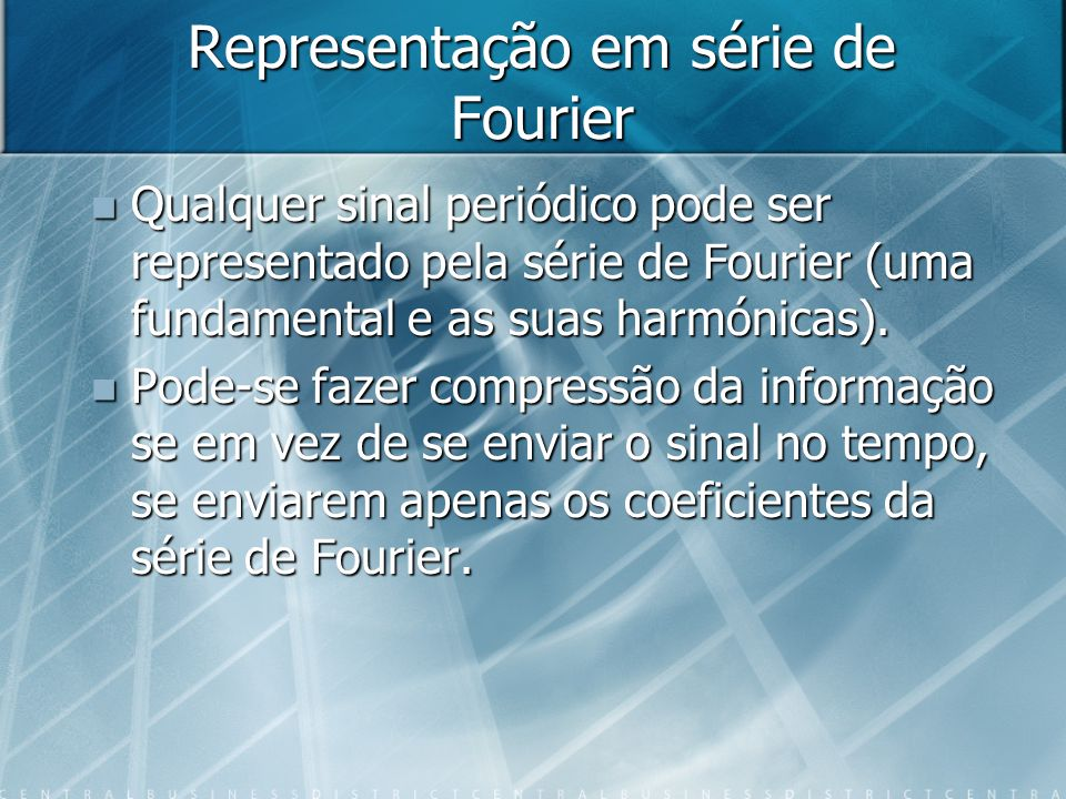 Representação em série de Fourier