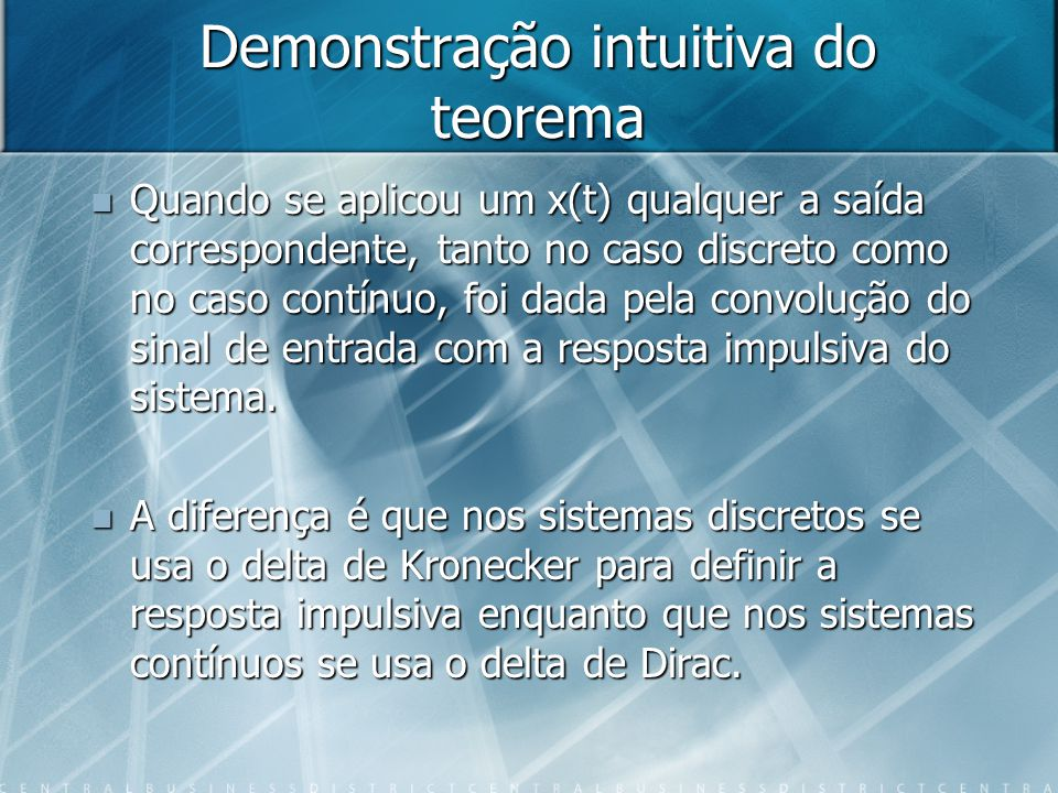Demonstração intuitiva do teorema