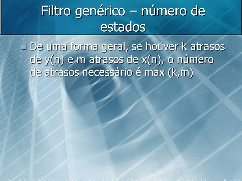 Filtro genérico – número de estados