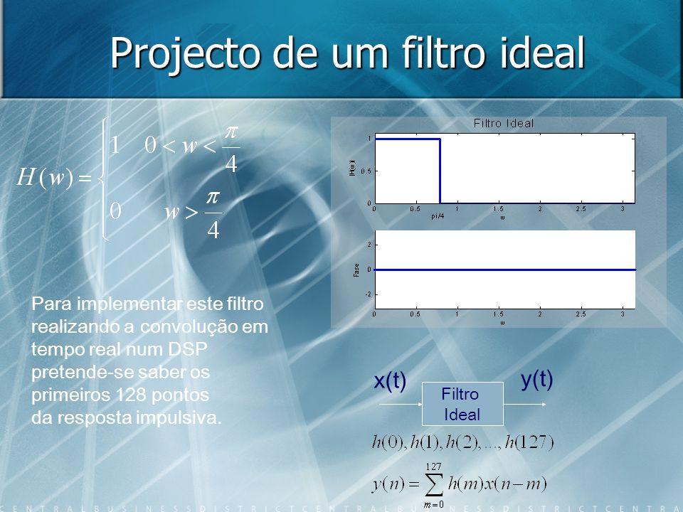 Projecto de um filtro ideal