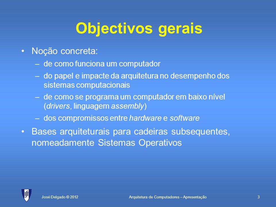 Objectivos gerais Noção concreta: