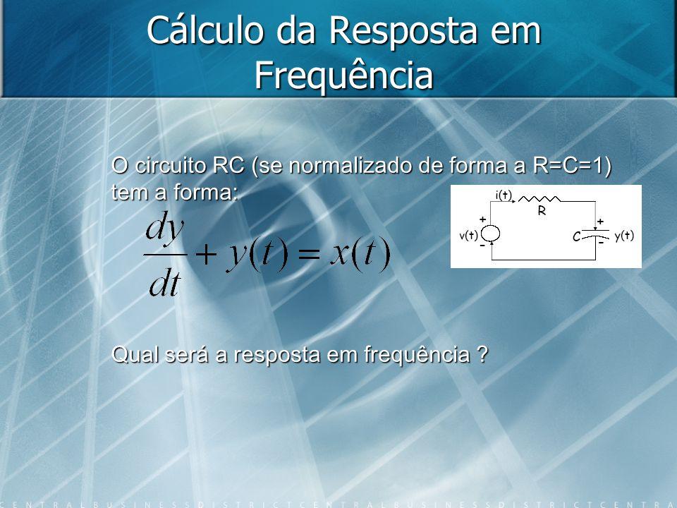Cálculo da Resposta em Frequência