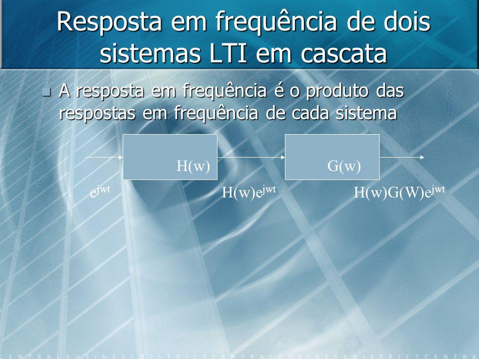 Resposta em frequência de dois sistemas LTI em cascata