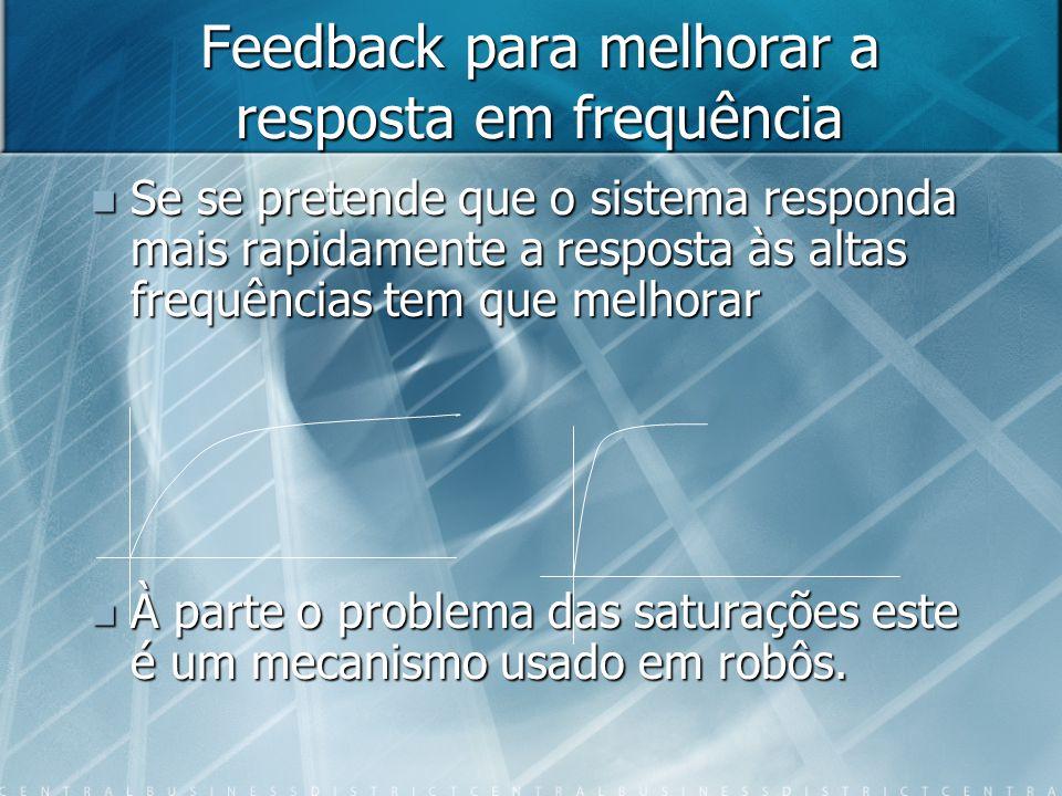 Feedback para melhorar a resposta em frequência