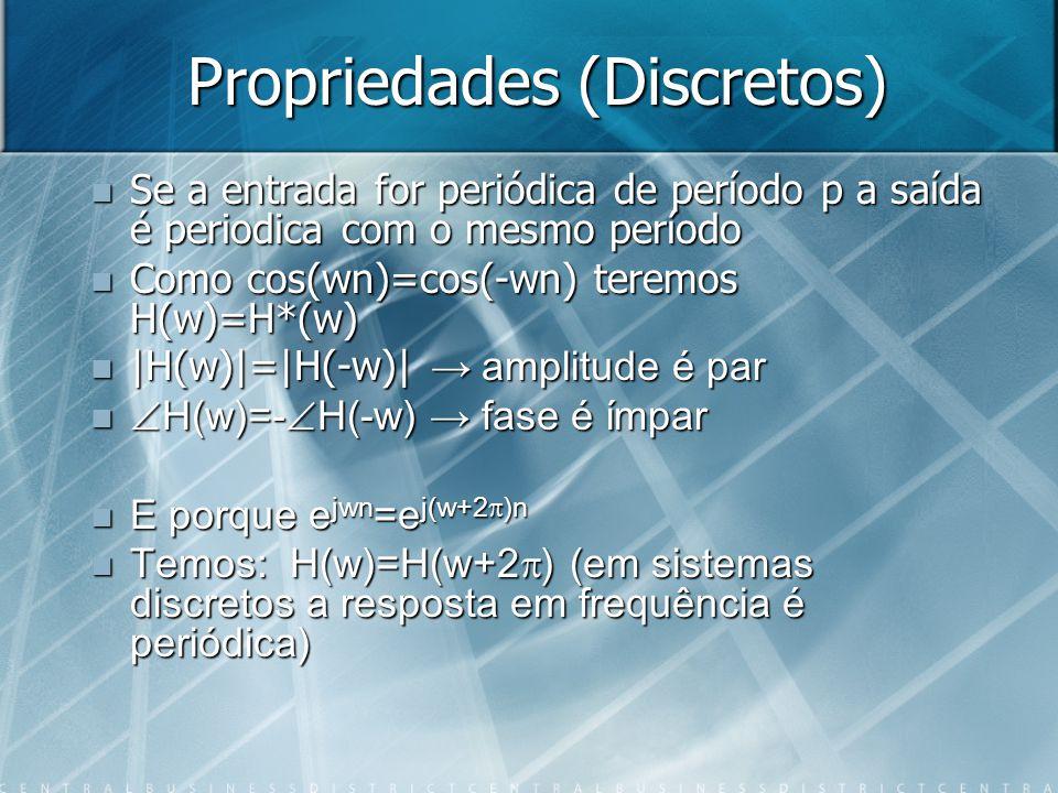 Propriedades (Discretos)