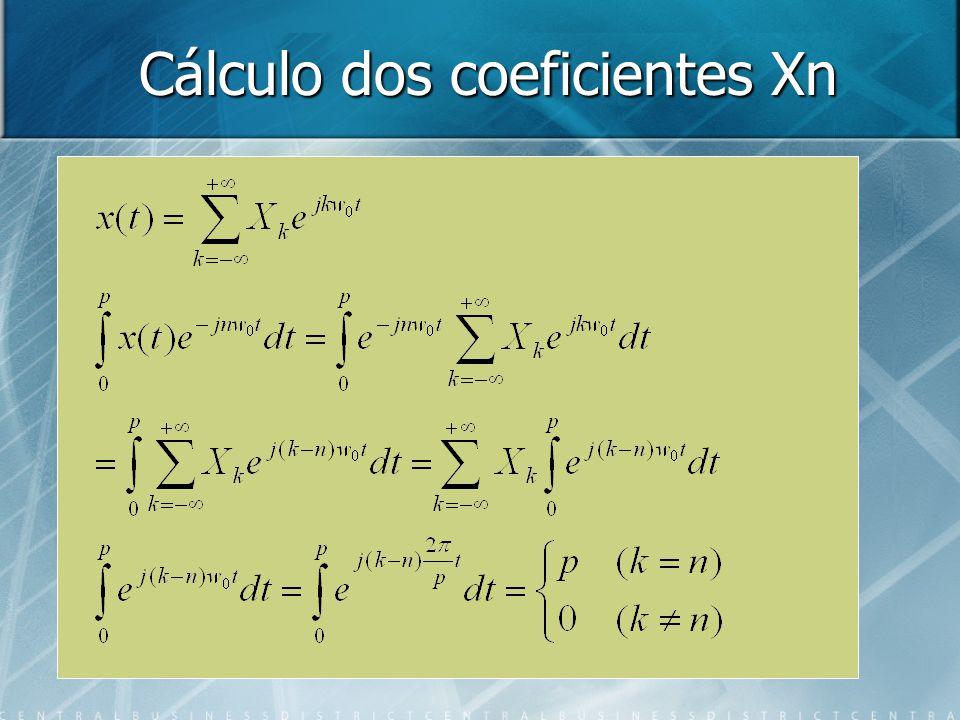 Cálculo dos coeficientes Xn
