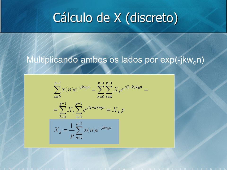 Cálculo de X (discreto)