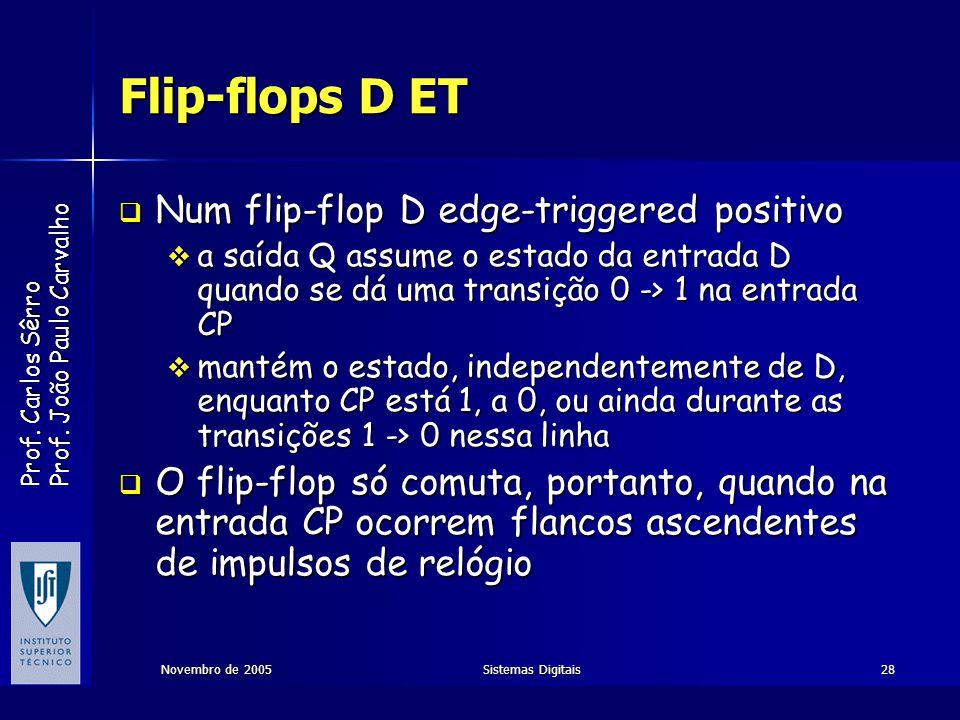 Flip-flops D ET Num flip-flop D edge-triggered positivo