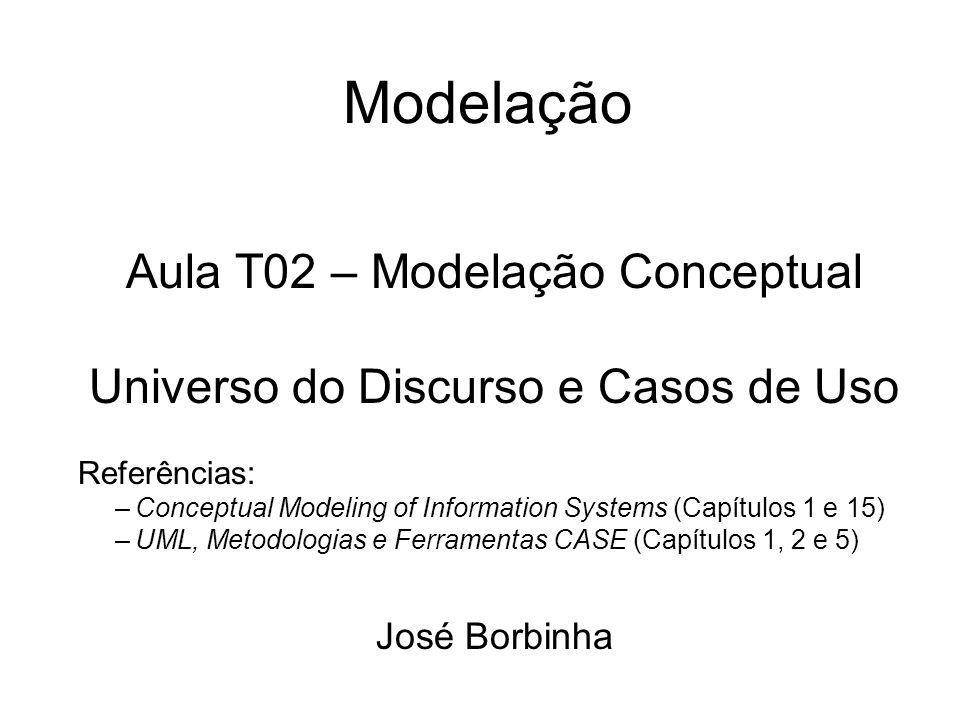 Modelação Aula T02 – Modelação Conceptual