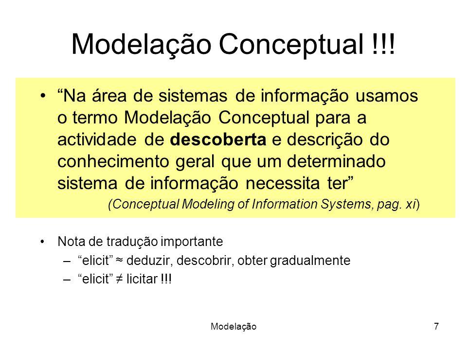 Modelação Conceptual !!!