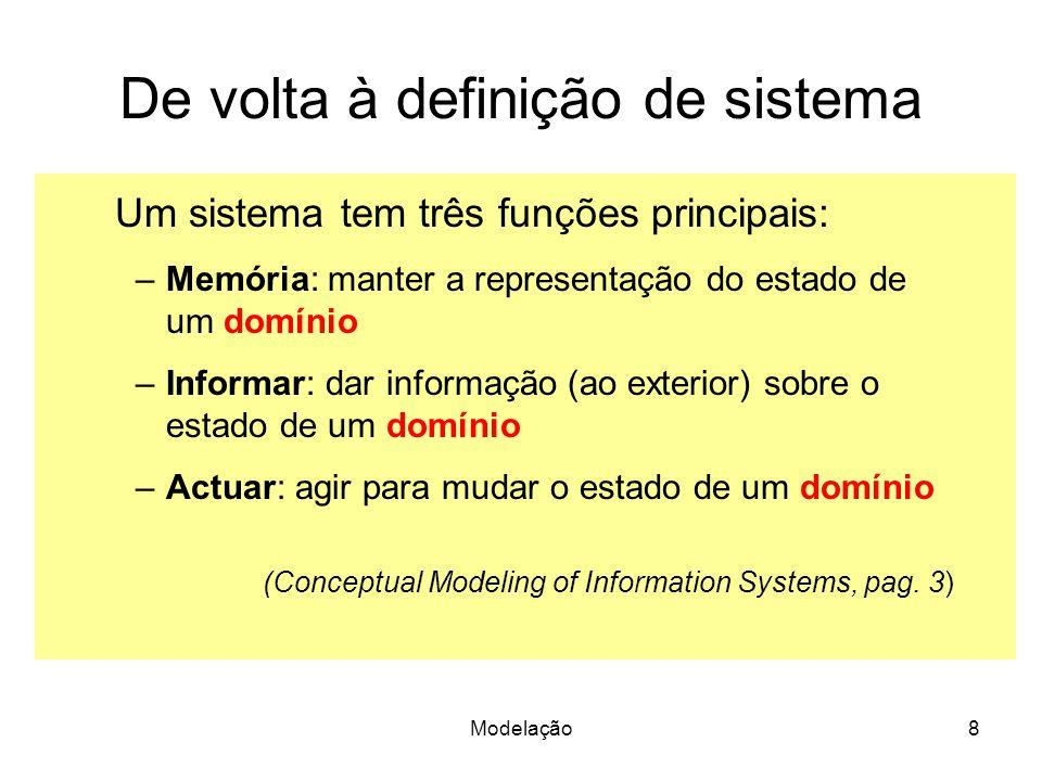 De volta à definição de sistema