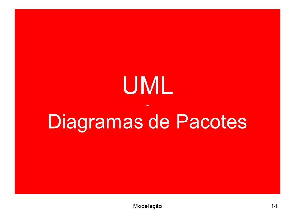 UML - Diagramas de Pacotes
