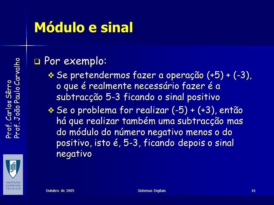 Módulo e sinal Por exemplo: