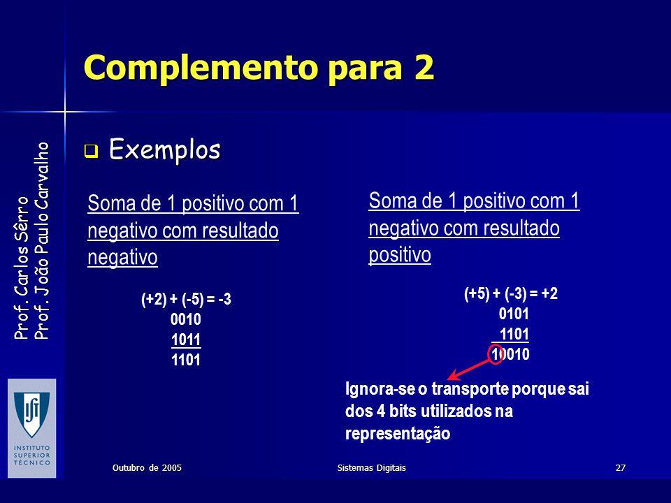 Complemento para 2 Exemplos