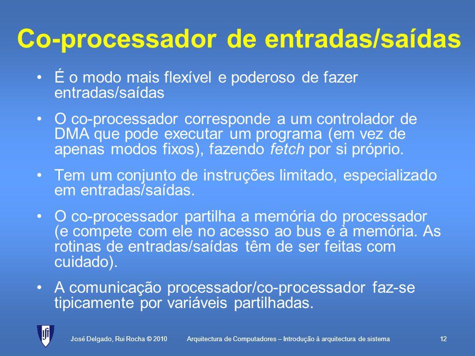 Co-processador de entradas/saídas