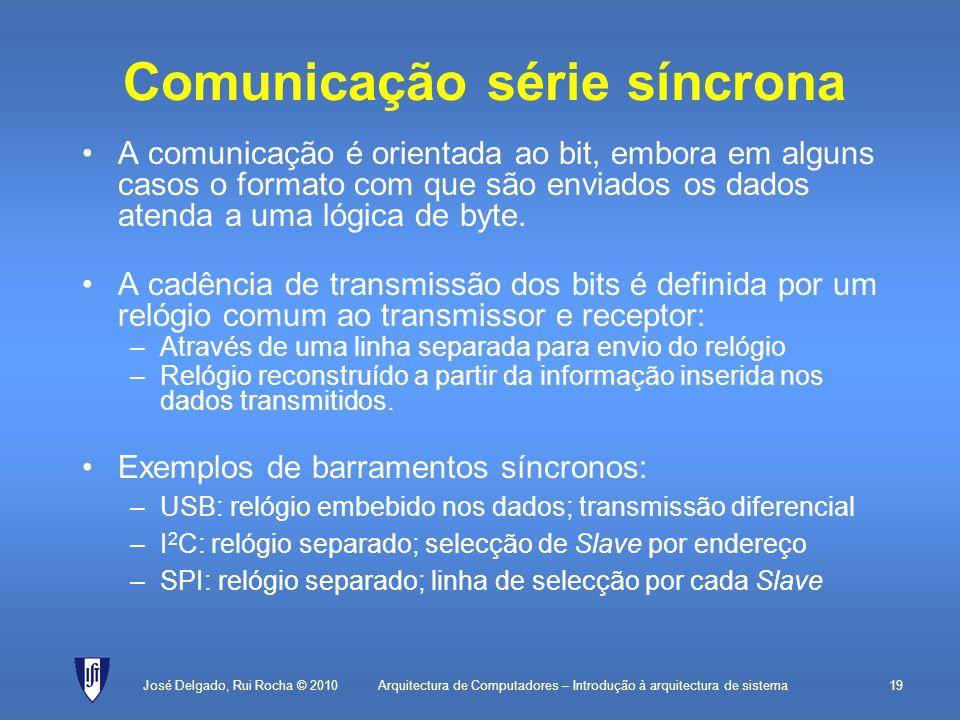 Comunicação série síncrona