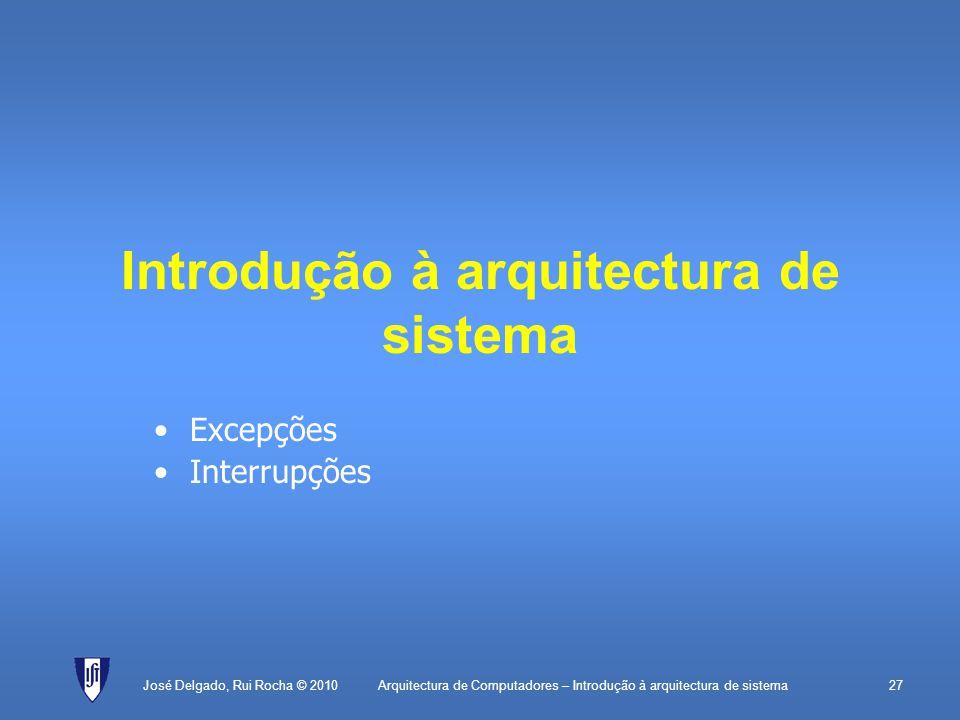Introdução à arquitectura de sistema