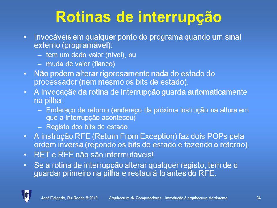 Rotinas de interrupção