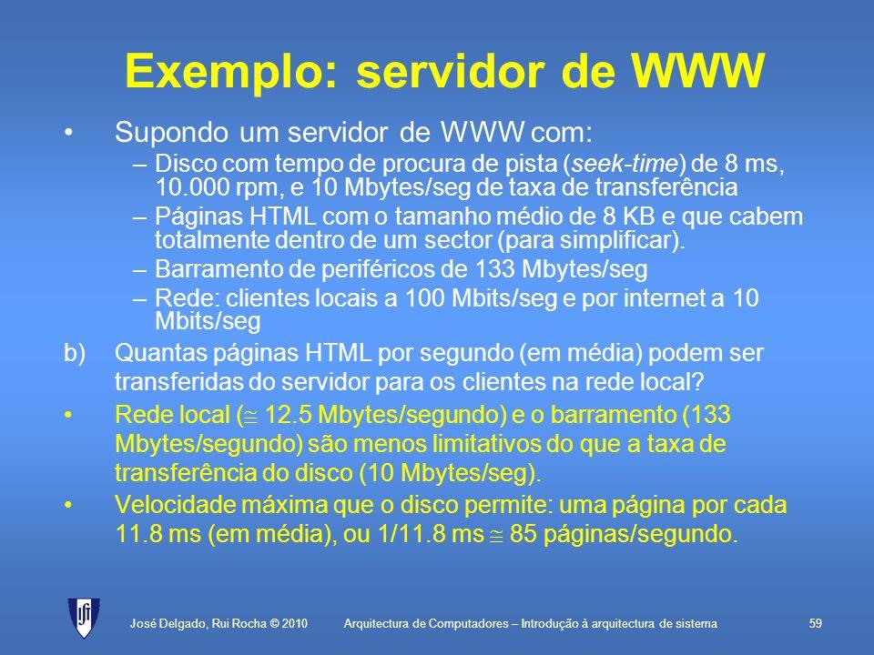 Exemplo: servidor de WWW