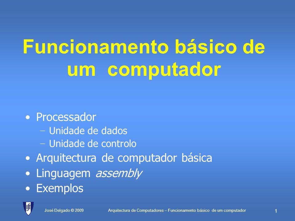 Funcionamento básico de um computador