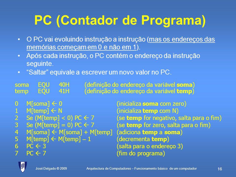 PC (Contador de Programa)