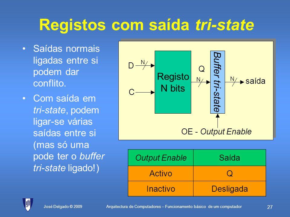 Registos com saída tri-state