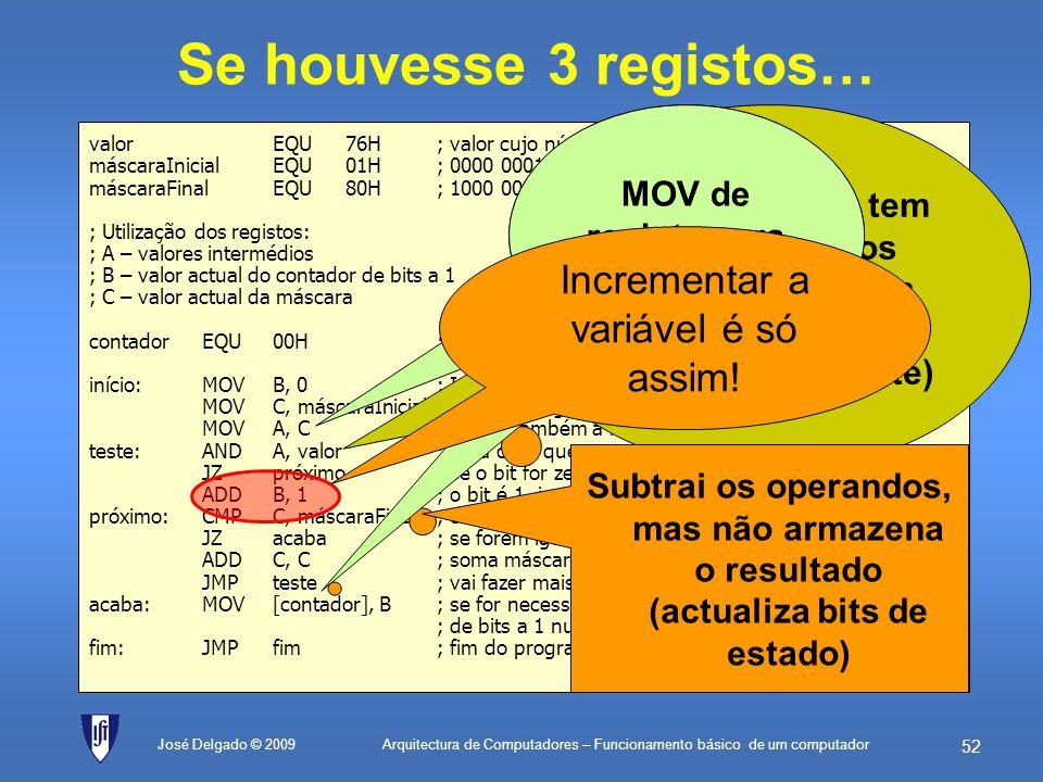 MOV de registo para registo