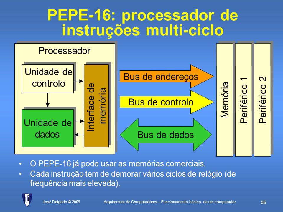 PEPE-16: processador de instruções multi-ciclo