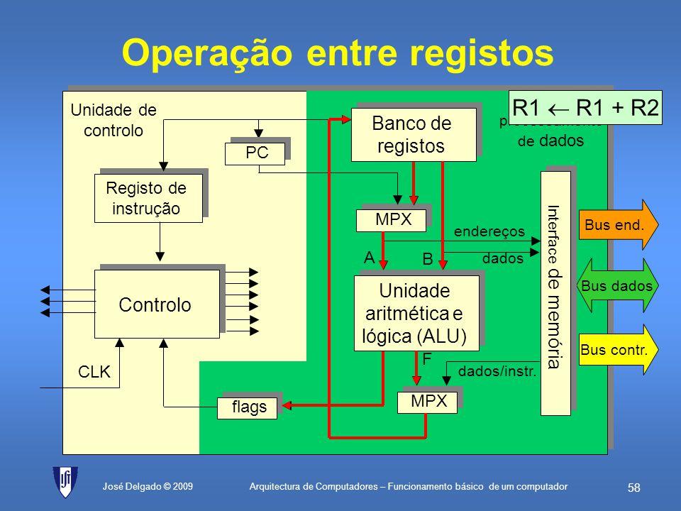 Operação entre registos