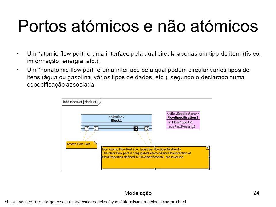 Portos atómicos e não atómicos
