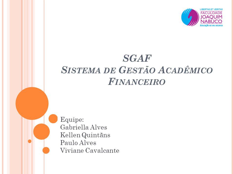 SGAF Sistema de Gestão Acadêmico Financeiro