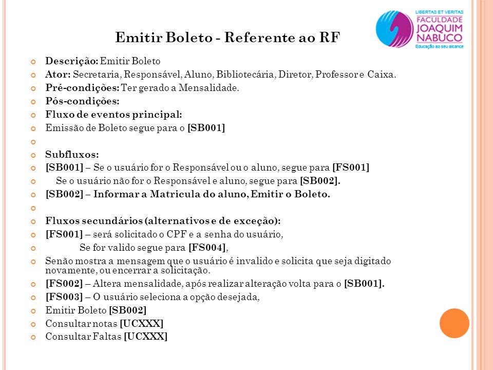 Emitir Boleto - Referente ao RF