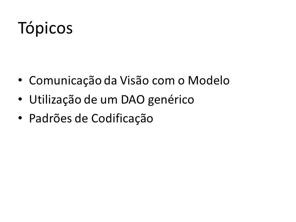 Tópicos Comunicação da Visão com o Modelo