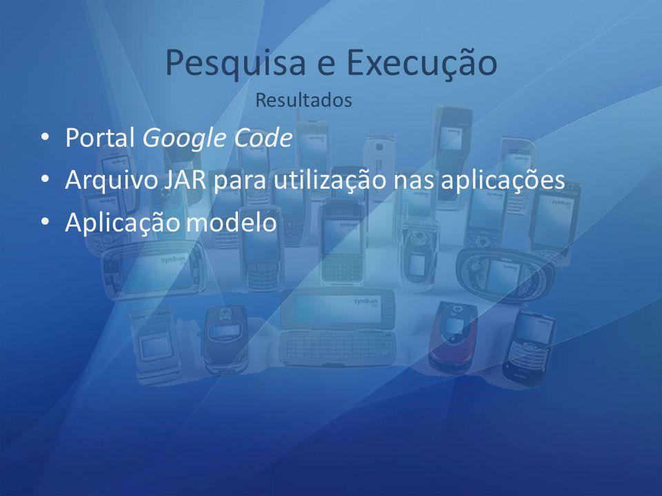 Pesquisa e Execução Portal Google Code