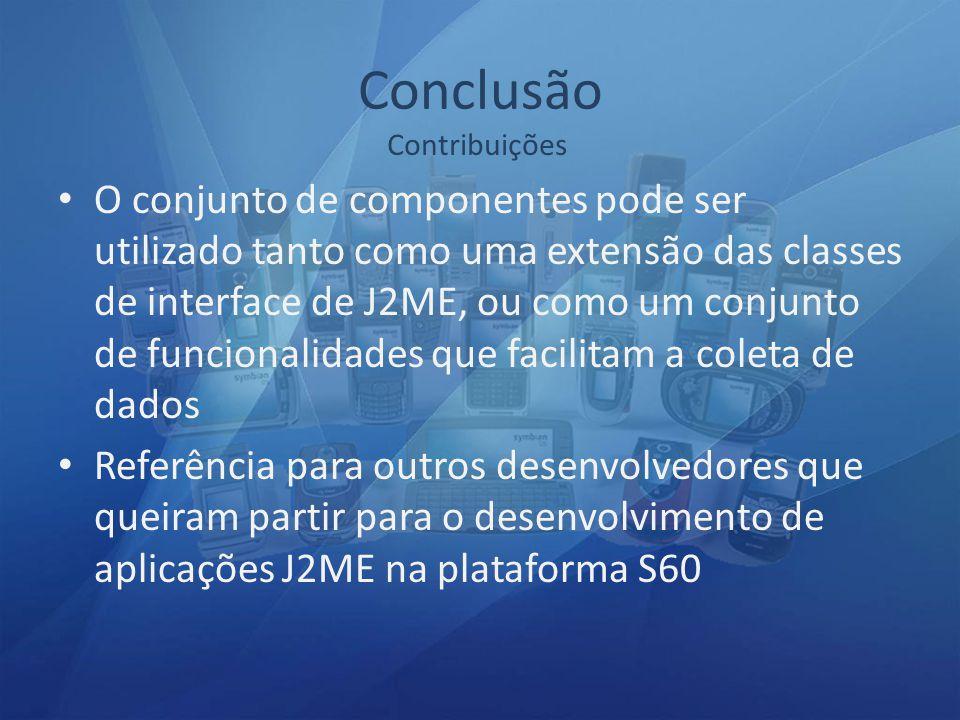 Conclusão Contribuições.