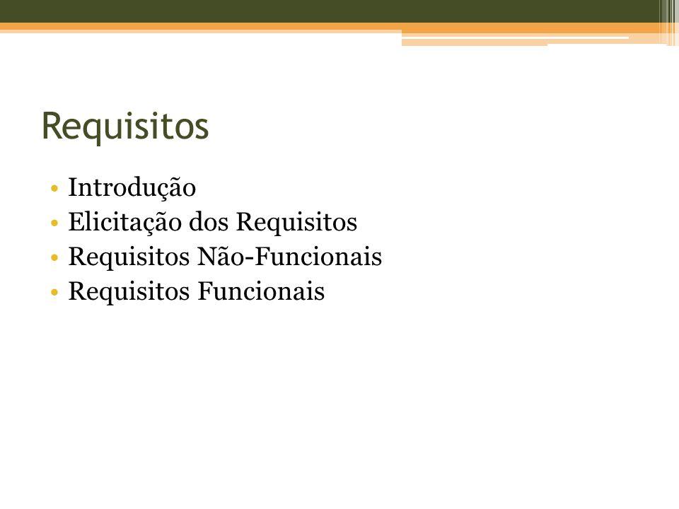 Requisitos Introdução Elicitação dos Requisitos