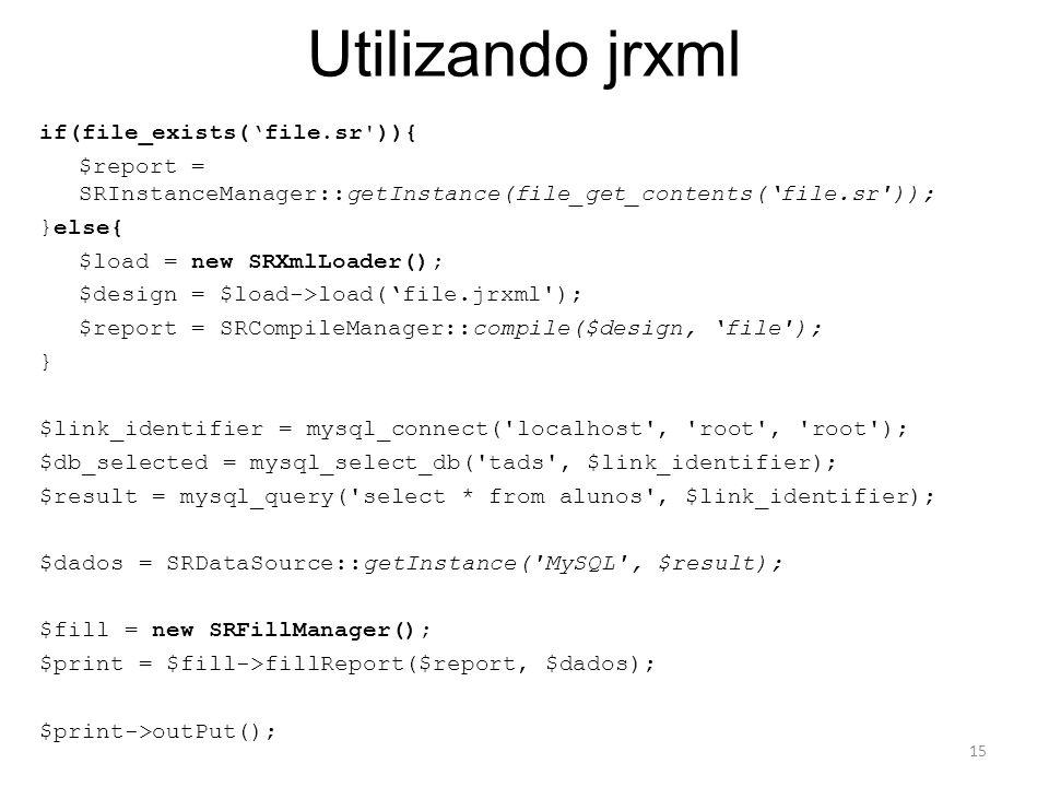 Utilizando jrxml