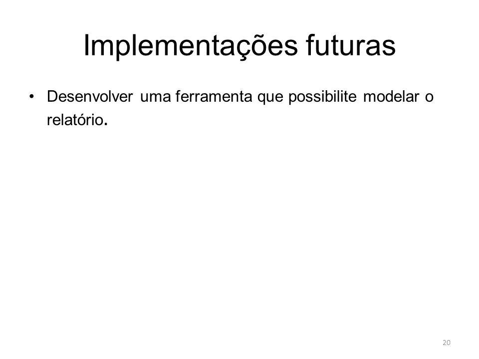 Implementações futuras