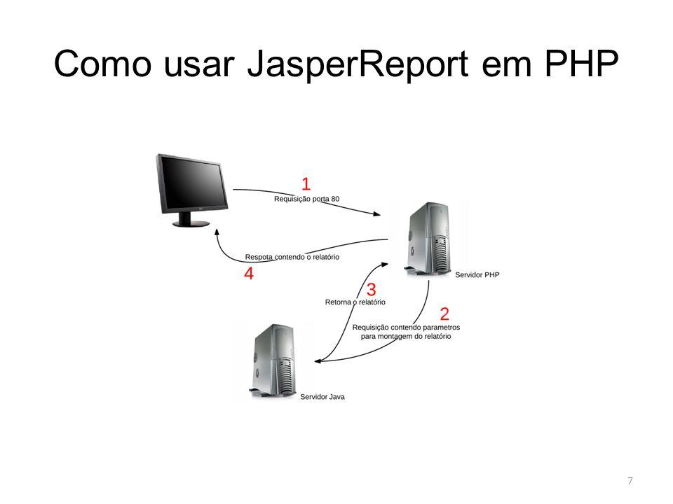 Como usar JasperReport em PHP