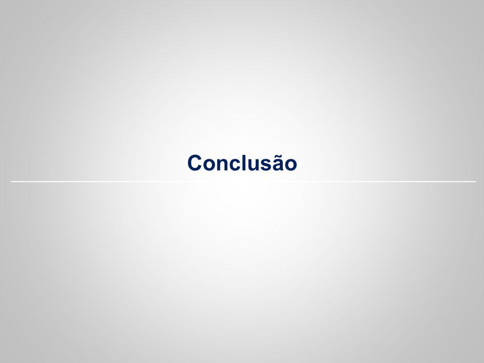 Conclusão Focar na questão do cliente. Focar na ferramenta.