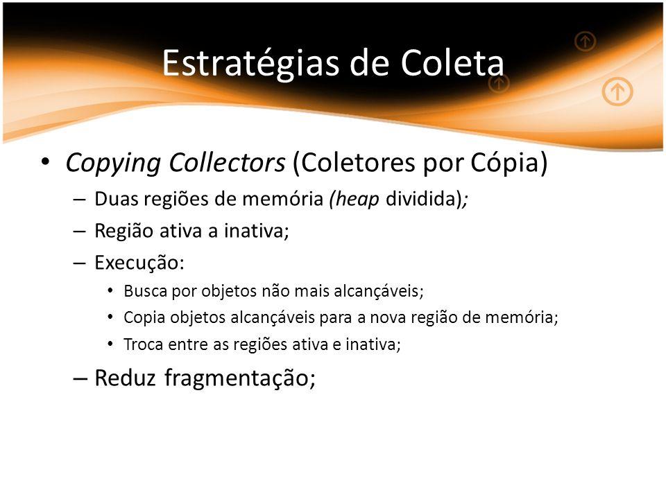 Estratégias de Coleta Copying Collectors (Coletores por Cópia)