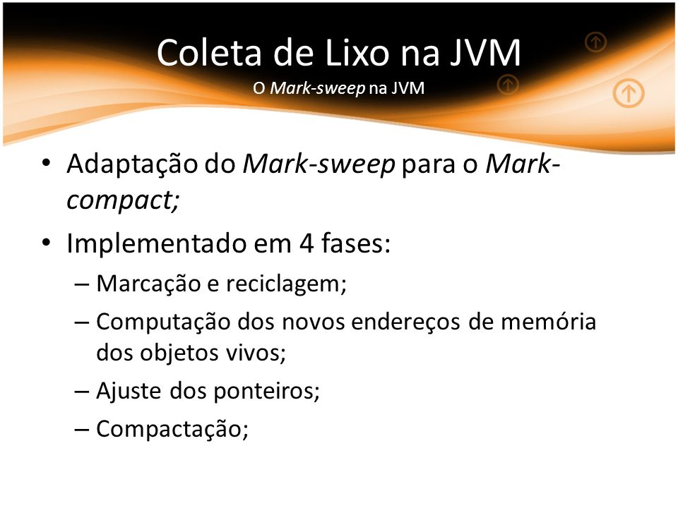 Coleta de Lixo na JVM O Mark-sweep na JVM