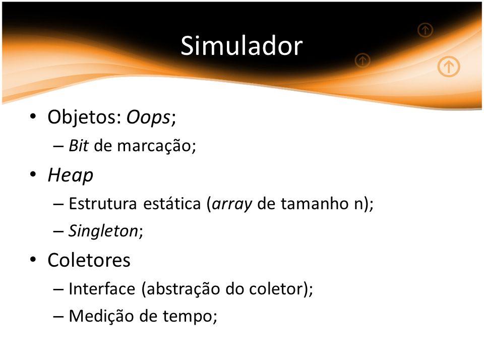 Simulador Objetos: Oops; Heap Coletores Bit de marcação;