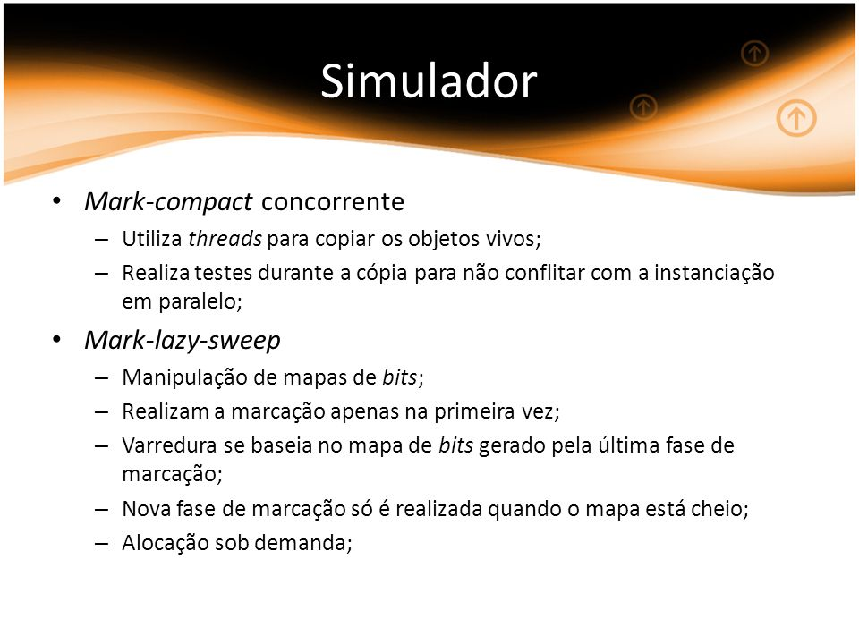 Simulador Mark-compact concorrente Mark-lazy-sweep