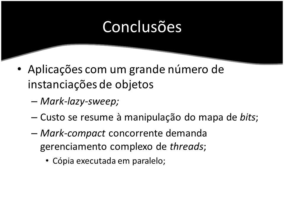 Conclusões Aplicações com um grande número de instanciações de objetos
