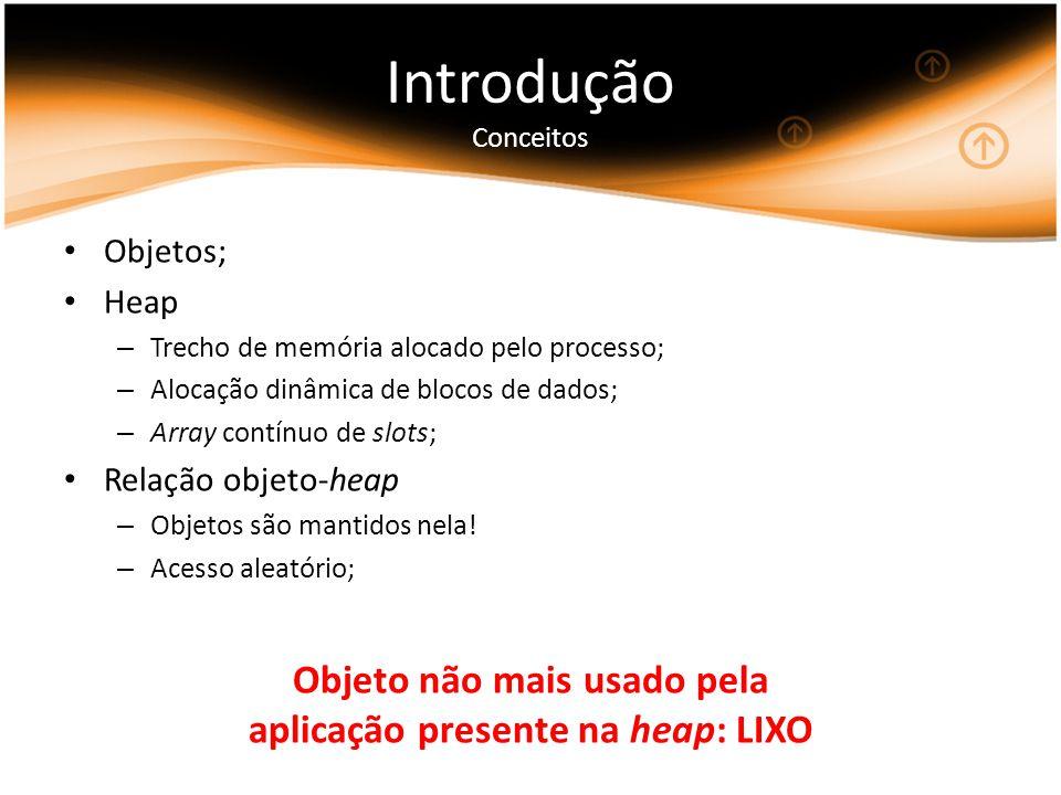 Objeto não mais usado pela aplicação presente na heap: LIXO