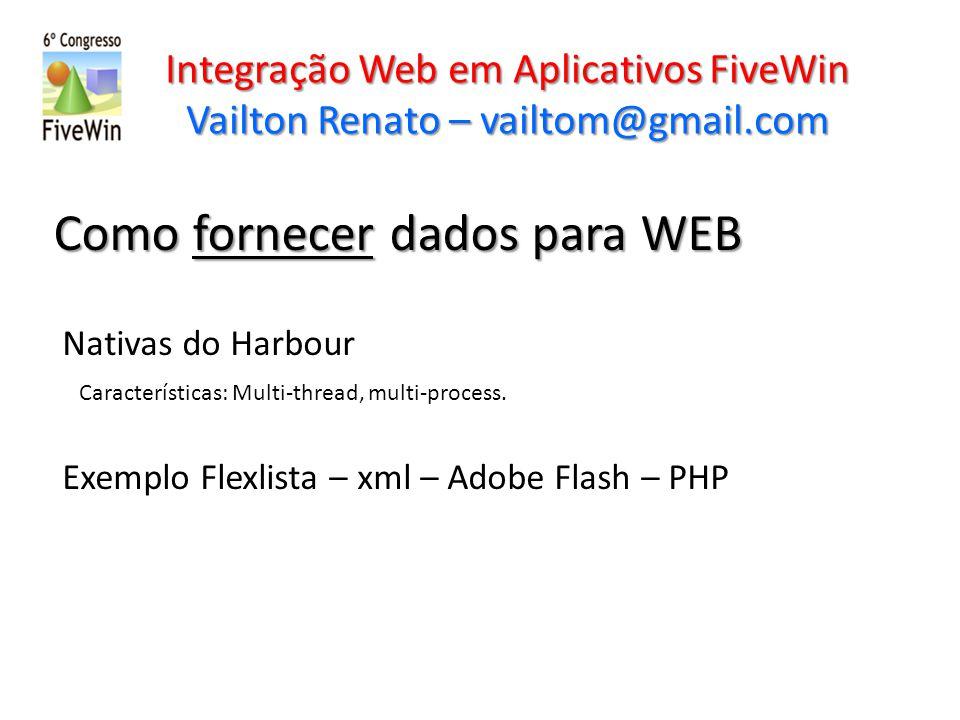 Como fornecer dados para WEB